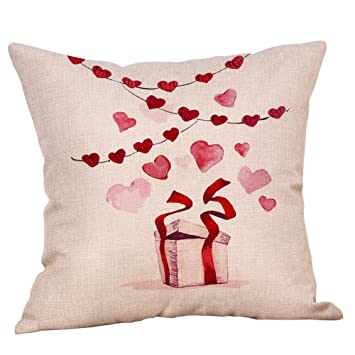 Amazon.com: Throw Pillow Cover, DaySeventh Happy Valentine ...