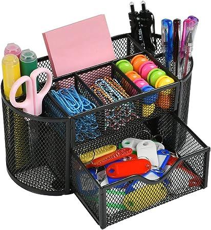 Schreibtischorganizer Mesh Büroausstattung Ordnungssystem Ablagebox Stiftehalter