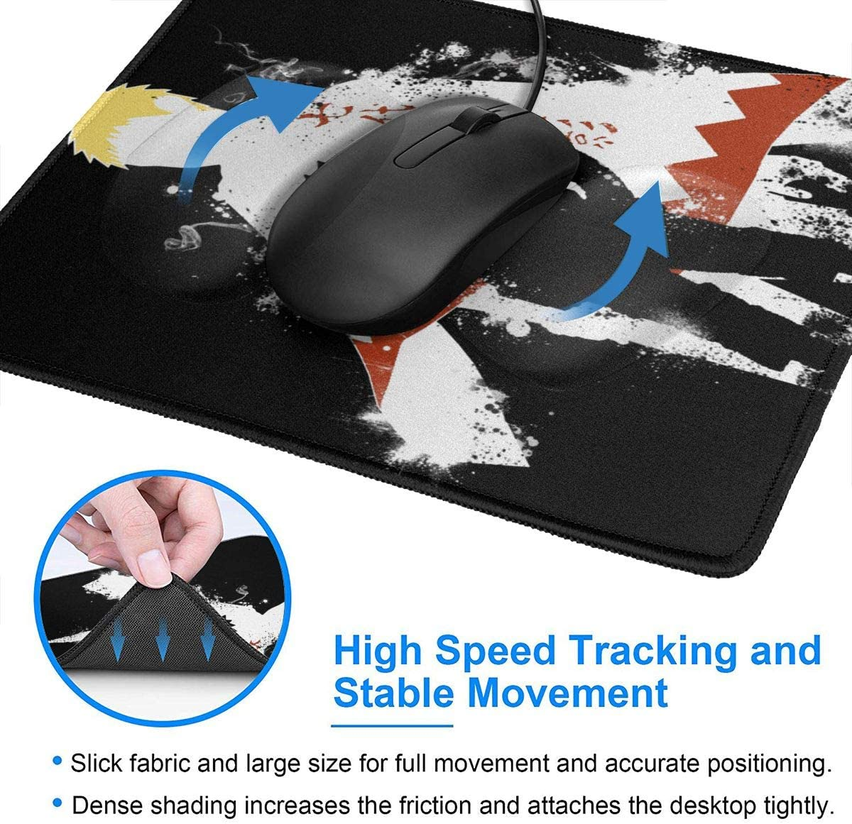 Fullmetal Alchemist Alchemy Mouse Pad Non Slip Gaming Mouse Pad with Stitched Edge Computer PC Mousepad Neoprene Base for Office Home
