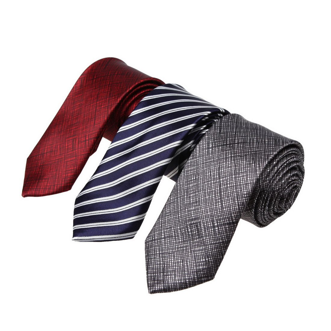 KT3066 Love Shopstyle Slim Ties Polyester Fantastic World 3 Pack Skinny Ties Set by Dan Smith