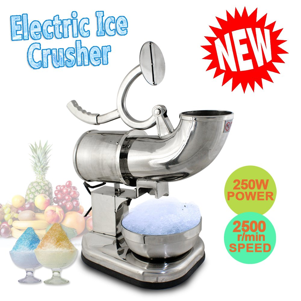 BBBuy Commercial 440lbs/h Electric Ice Shaver Machine Snow Cone Maker Crusher Shaving Cold Drink Blades