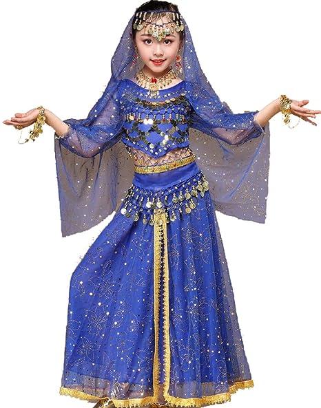 SMACO Niña FaldasIrls Traje de Baile Indio de Bollywood para ...