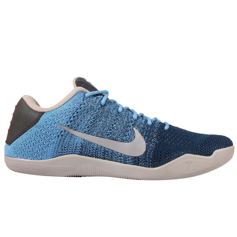 Amazon.com | Nike Men's Kobe XI Elite Low, BRAVE BLUE/MTLC SILVER-UNIVERSITY  BLUE Size US12 | Basketball