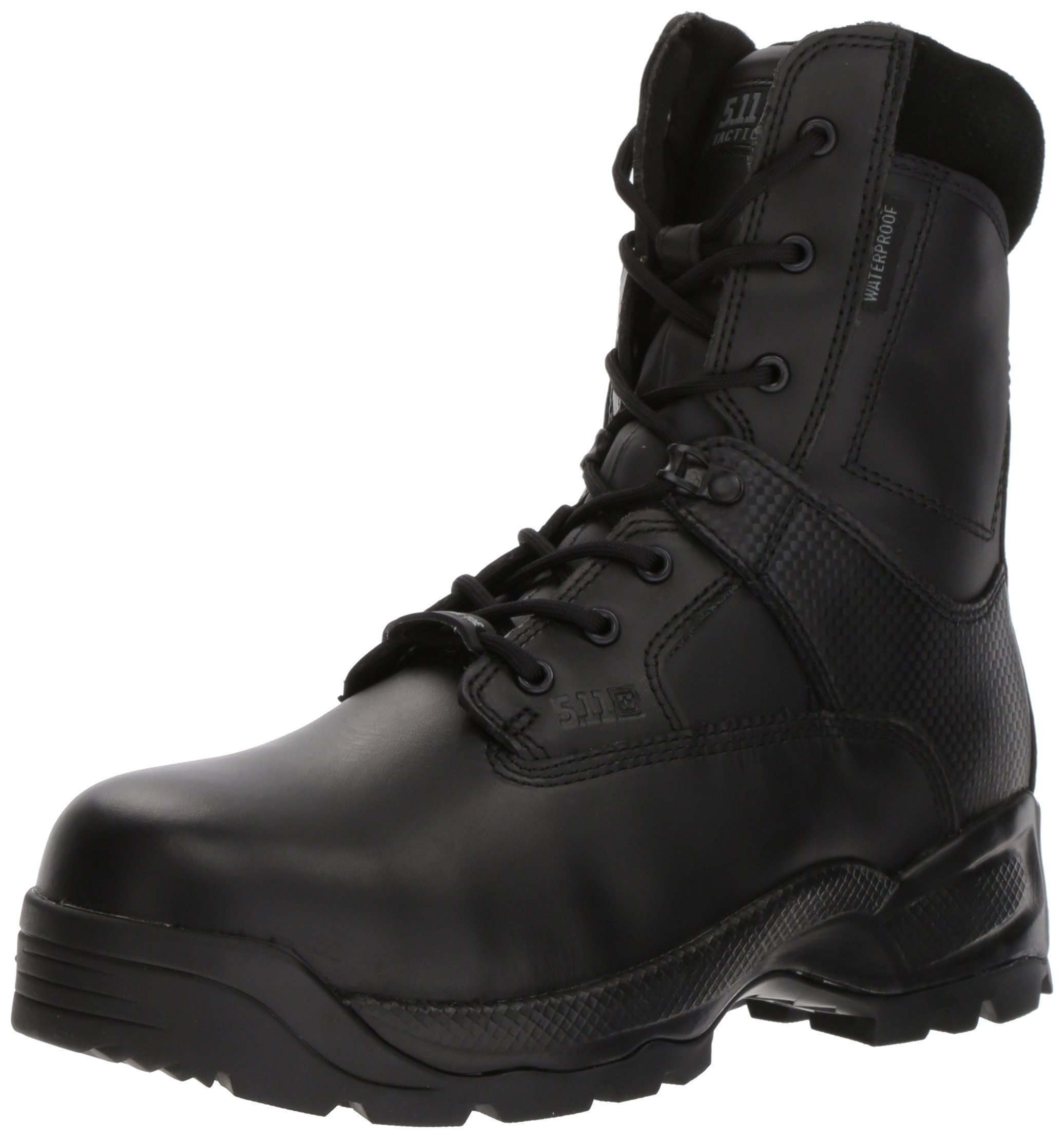 5.11 Tactical Men's A.T.A.C. Shield 8 Inch Side Zip Boot, Black, 7 W US