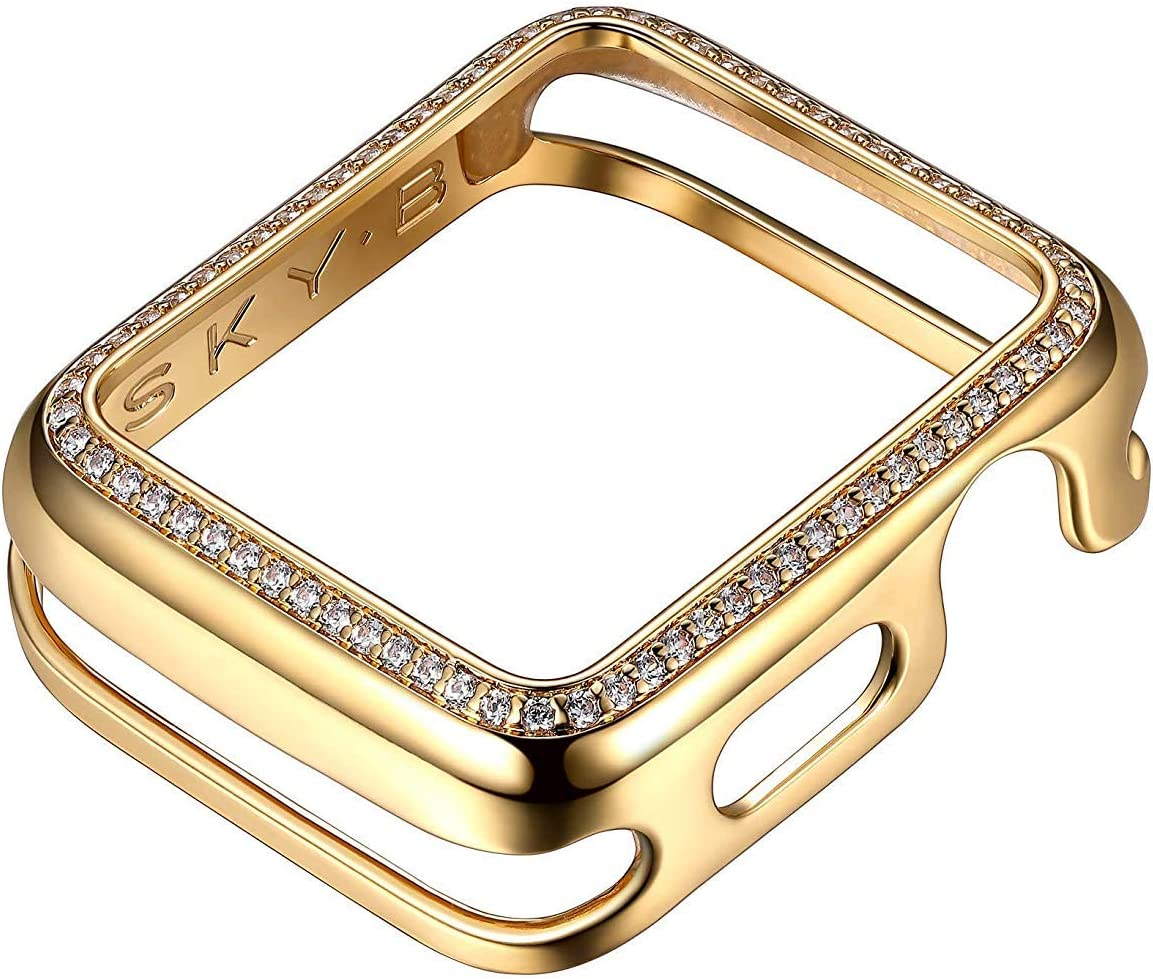 SKYB Halo Yellow Gold Protective Jewelry Case for Apple Watch Series 1, 2, 3, 4, 5 Devices - 38mm