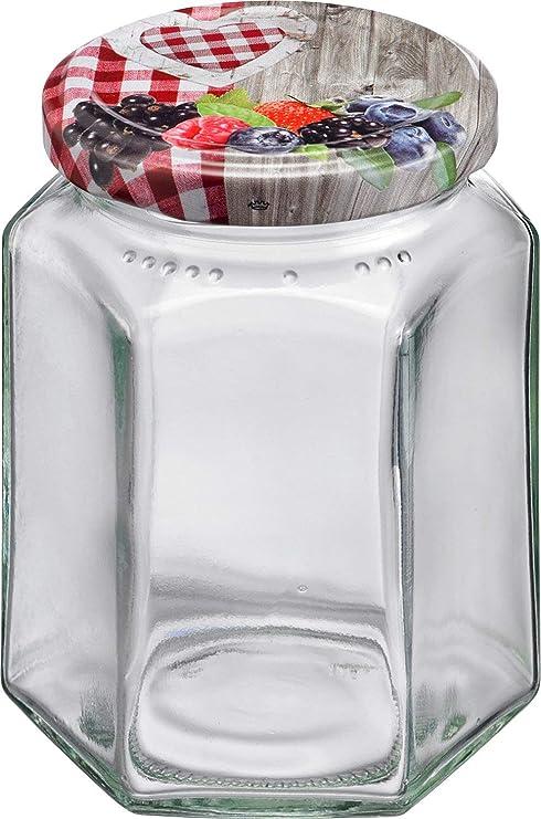 Einkochglas Früchte 500 ml mi twist-off-Deckel 6 Einkochgläser