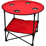 Picnic at Ascot Canvas Travel Folding Table, Red