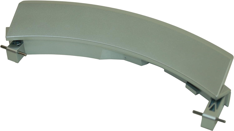 Manilla para puertas Bosch Siemens con ejes lavadora de plata 648581 00648581