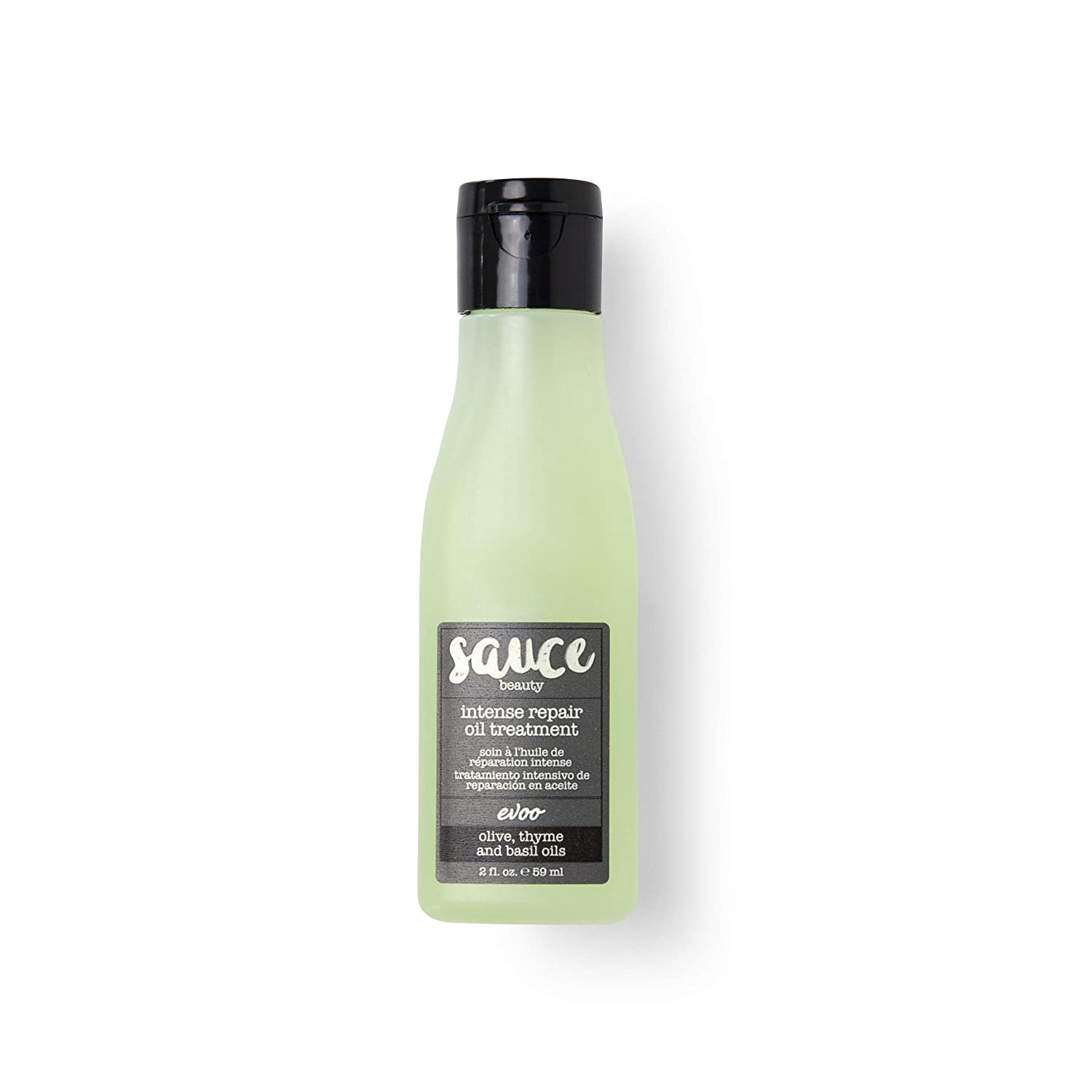 Sauce Beauty EVOO Intense Repair Hair Treatment Oil - Hair Serum Rich in Thyme and Basil Oil for Soft Texture and Frizz Control