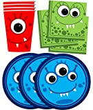 Mighty Monster Birthday Party Supplies Set Plates Napkins Cups Tableware Kit for 16 by Birthday Galore