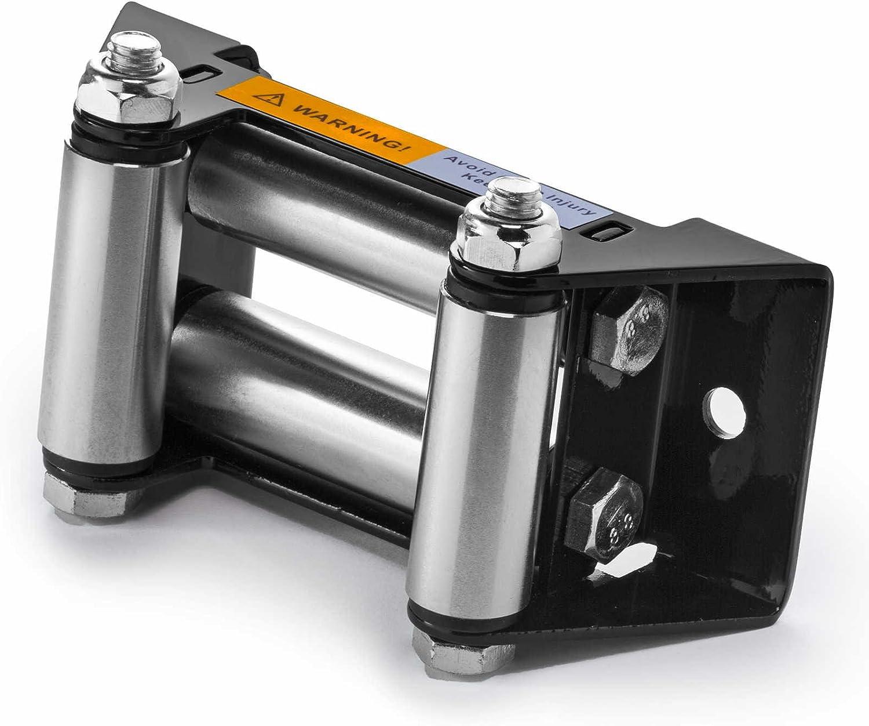 Rodillo de cabrestante ATV Fairlead - 4 7/8 pulgadas patrón de perno - por Driver Recovery Products