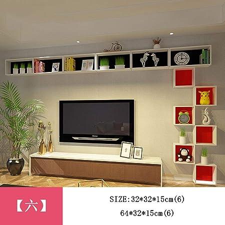 SED Set-Top Box Estantes de Pared TV Decoración de Pared Router Creative Lattice Colgante de Pared Sala de Estar Estante Decoración de Pared (múltiples Estilos Disponibles),6: Amazon.es: Hogar