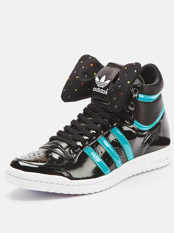adidas Top Ten High Sleek Bow W schoenen zwart turkoois in