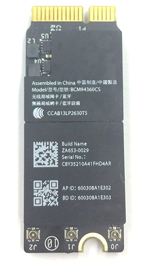 """New WiFi Bluetooth Airport Card For MacBook Pro 13/"""" A1502 2013 2014 BCM94360CSAX"""