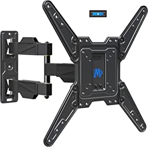 Mounting Dream Full Motion TV Mount for 26-55 Inch TVs, Wall Brackets for Flat Screens Plus Swivel, Tilt and Extends 16.7 Inch with Cable Management - Articulating Mount Fits Single Wood Stud