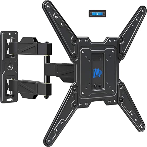 Mounting Dream Full Motion TV Mount for 26-55 Inch TVs, Wall Brackets for Flat Screens Plus Swivel, Tilt and Extends 16.7 Inch with Cable Management – Articulating Mount Fits Single Wood Stud