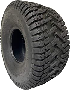 MARASTAR 20808-TO Turf Traction 20x8.00-8 4PR Rear TIRE ONLY for Riding Mowers, Black