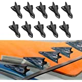 Alpha racing Air Vortex Generator Diffuser Shark Fin 10pcs Set Kit for Spoiler Roof Wing ca Pointed end