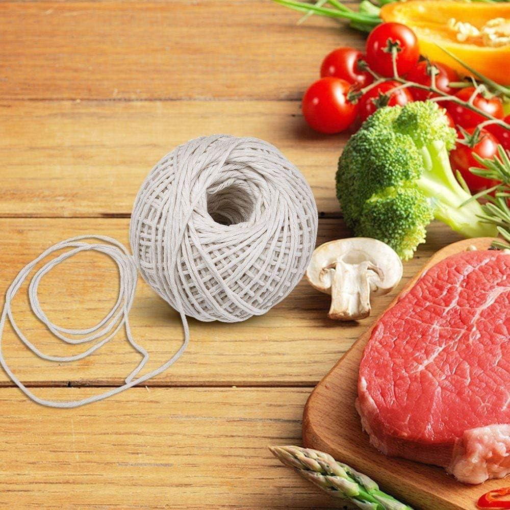 Non blanchie TUUROPD Ficelle de Coton de qualit/é Alimentaire Barbecue pour ustensiles de Cuisine pour Nouer et Nouer la Viande, Cordes /à r/ôtir