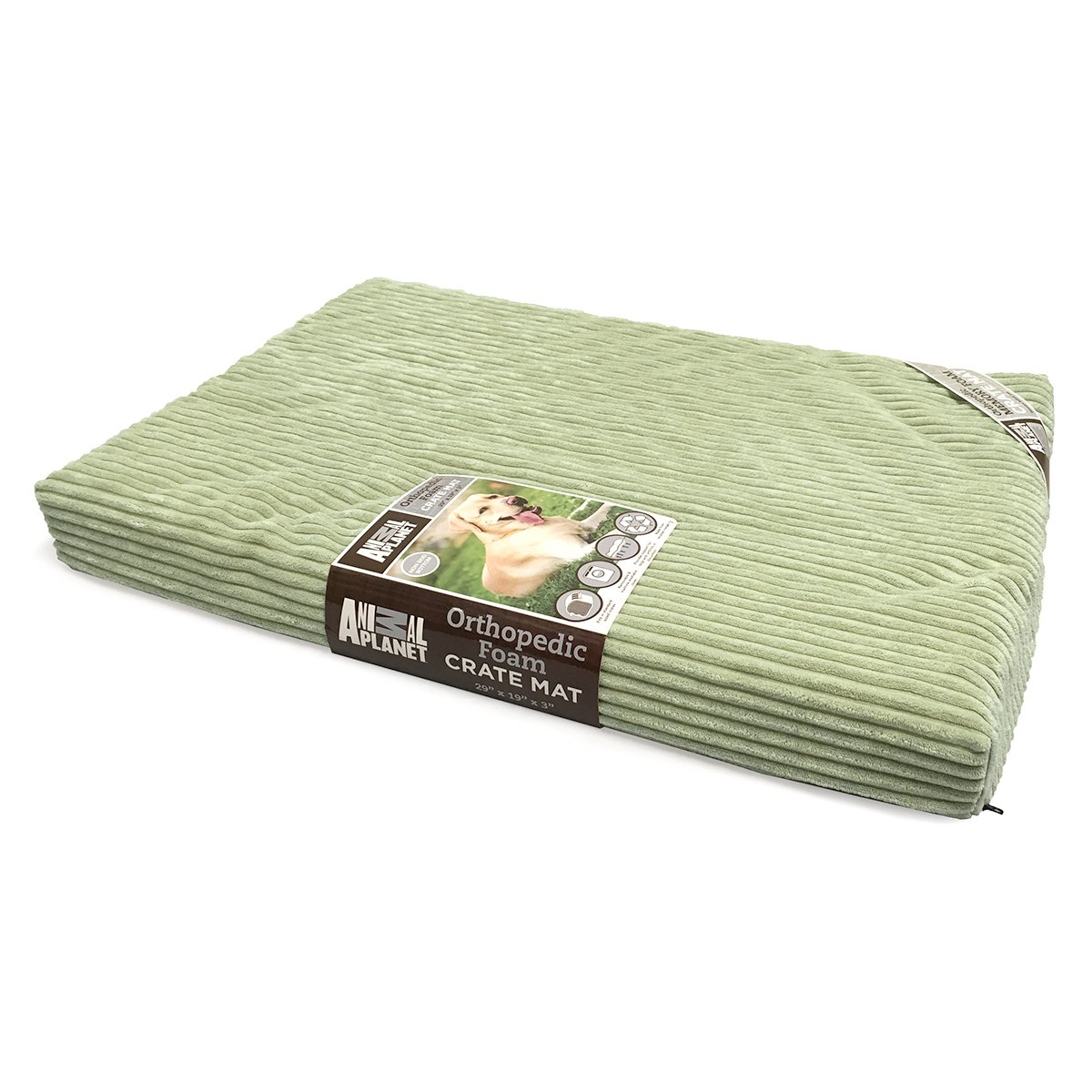 Animal Planet Orthopedic Pet Bed, 40''x26''x3'', Sage