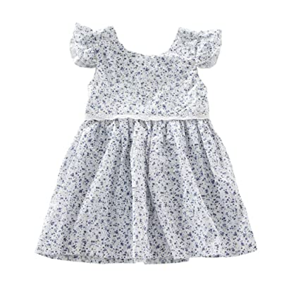 Baby Girl Cotton Dresses Infant Polka Dot Design Girls Party Dress With Lace Bottom