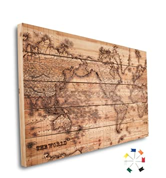 Amazon beautiful laser engraved wooden world map wall art beautiful laser engraved wooden world map wall art home wall decor office wall art gumiabroncs Images