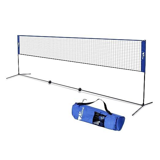 4 opinioni per Amzdeal Rete da badminton portatile 510x103x155cm, Badminton Rete multifunzione