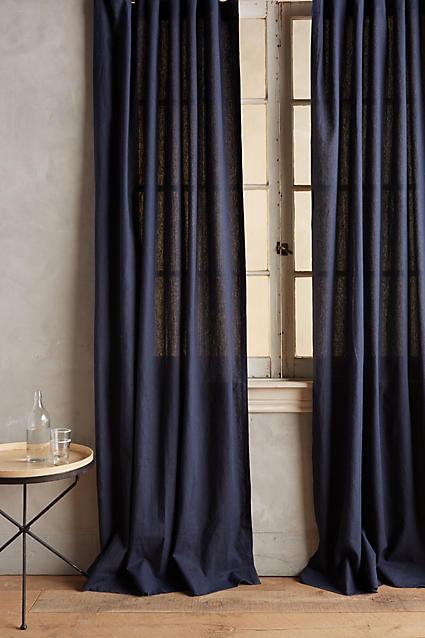 Linen Tie-Top Curtain - anthropologie.com