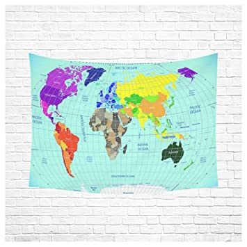 Amazon interestprint global earth map wall art decor high interestprint global earth map wall art decor high detailed world map with time zone clocks gumiabroncs Choice Image