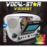 "Vocal-Star CDG Bluetooth Karaoke Machine With 4.3"" Screen Built in Speakers, 2 Microphones & 40 Party Songs (VS105BT)"