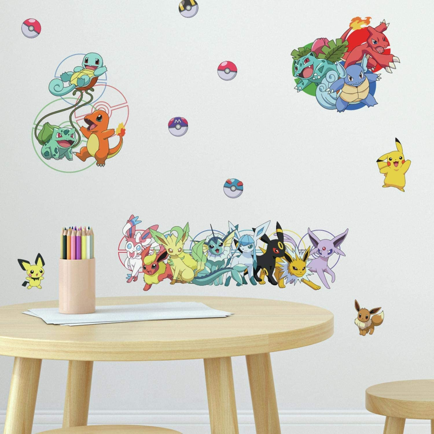 RoomMates - RMK4150SCS Pokemon Favorite Character Peel and Stick Wall Decals