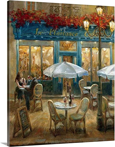 Paris Cafe I Canvas Wall Art Print