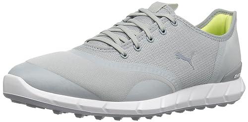 Puma Golf Women's Ignite Statement Low Golf Shoe, Quarry/White, 8 Medium US