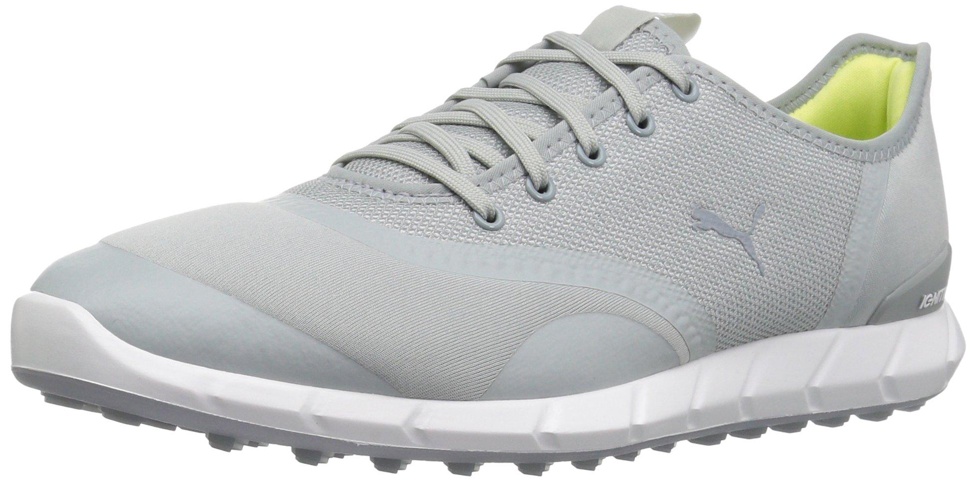 PUMA Golf Women's Ignite Statement Low Golf Shoe, Quarry/White, 8.5 Medium US
