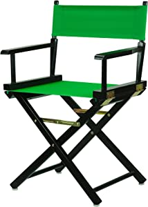 "Casual Home Director's Chair ,Black Frame/Green Canvas,18"" - Classic Height"