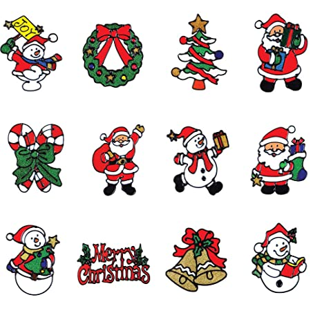 CHRISTMAS Glow in Dark wall stickers 59 decals tree ornaments snowflakes bells