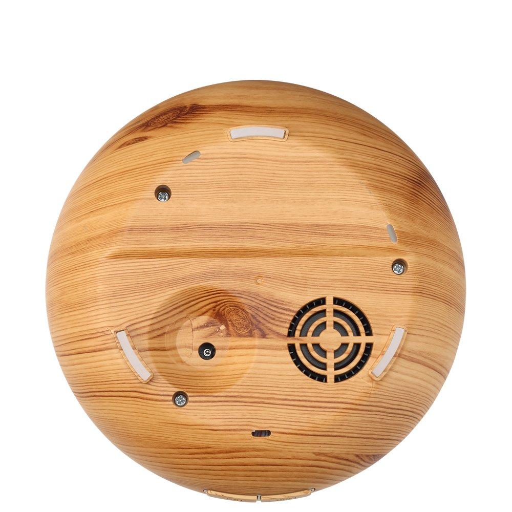 Ominihome Essential Oil Diffuser - 300ml Cool Mist Ultrasonic Wood Grain Humidifier - Whisper Quiet, Graduation Gift