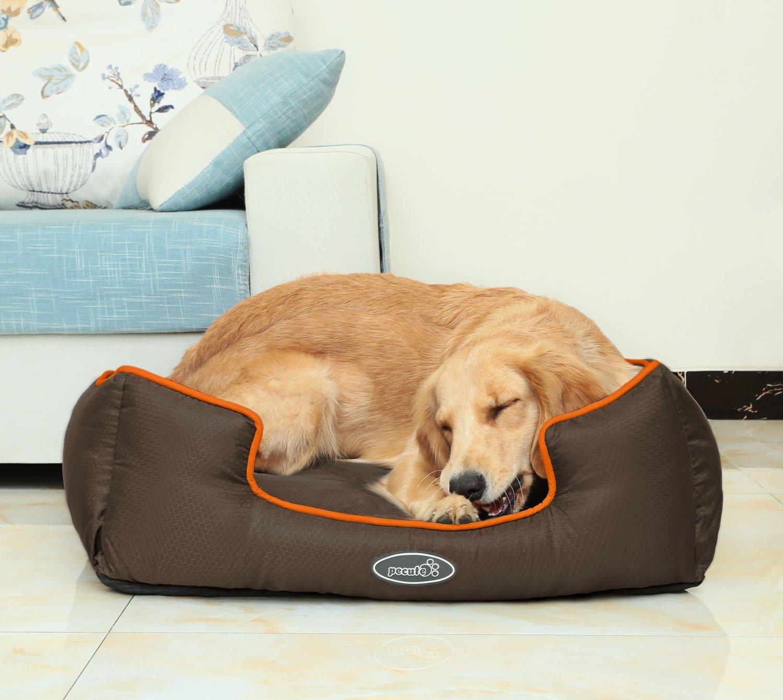 Pecute Cama de Perros y Gatos Alfombra para Mascotas Tela Impermeable Desmontable y Extraíble (L, marrón): Amazon.es: Productos para mascotas
