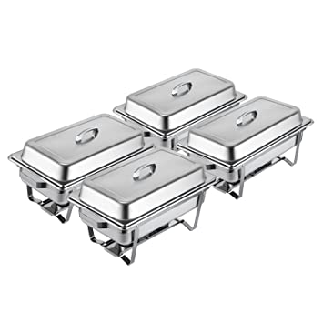 amazon com mophorn chafing dish buffet stainless steel chafer 8 rh amazon com