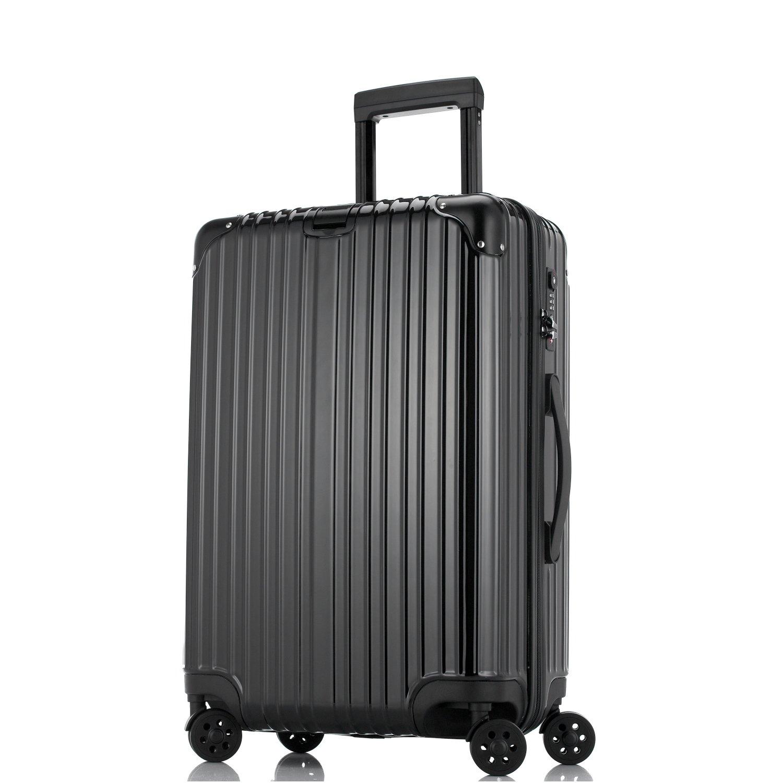 Unitravel スーツケース 超軽量【1年修理保証】 キャリーケース TSAロック ファスナー開閉式 キャリーバッグ 旅行 出張 静音8輪 s型 機内持込 B071L9XLBY XL (26)型|ブラック ブラック XL (26)型