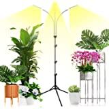 Emiral Plant Grow Light for Indoor Plants, Full Spectrum Led Grow Light with Stand, Three-Heads Floor Grow Lamp, Tripod Stand