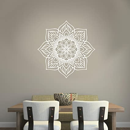 Amazon.com: Vinyl Wall Art Decal - Flower Mandala - 23\
