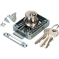 KOTARBAU® Meubelslot regelbaar 15 – 40 mm links en rechts opschroefslot met 3 sleutels cilindermeubelslot kastslot slot…