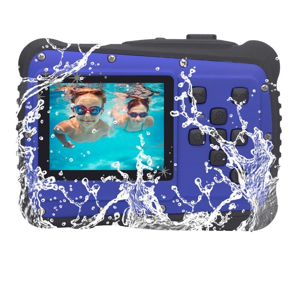 Kids Mini Digital Camera, Vmotal 3M Underwater Camera Kids Toy Camera: Starter Camera Waterproof Digital Camera with 8MP HD Photo, 2 Inch TFT LCD Screen, 4x Digital Zoom for kids, children and beginne