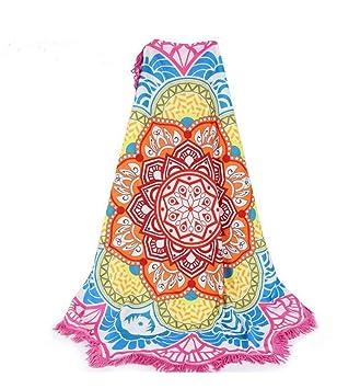 dasking Lotus toalla de playa flecos alfombra de Yoga chal impresión toalla para Yoga/Natación/Gym/Camping/piscina/Picnic: Amazon.es: Hogar