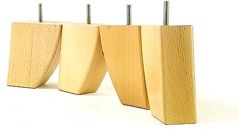 Amazon.com: knightsbrandnu2u 4 x muebles de madera pies ...
