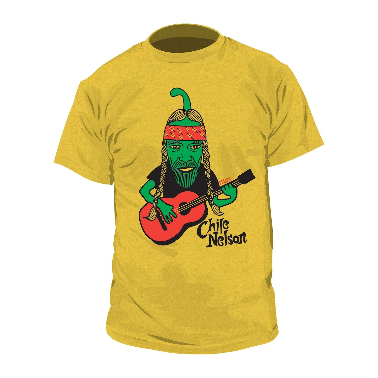 Freaker Usa Music Icon Pun Tshirt Chile Nelson Willie Nelson Tee Yellow