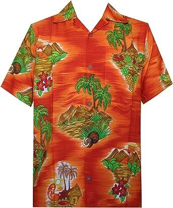 Camisa hawaiana para hombre con estampado de flores, playa ...