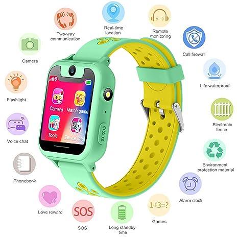 S6 Niños Smartwatch - Reloj de Pulsera Inteligente con ubicación GPS/LBS Reloj Despertador SOS