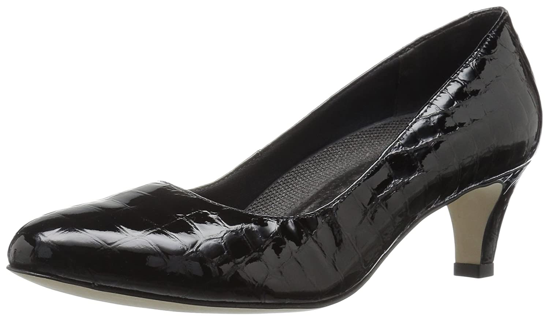 Walking Cradles Women's Joy Dress Pump B0058ZUXZE 6.5 B(M) US Black Crocodile Leather
